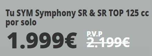 oferta scooter en donostia symphony sr precio 2020