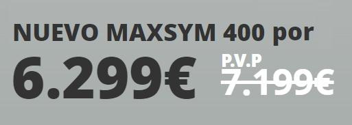 precio maxi scooter maxsym 400